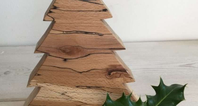 Christmas Tree Wooden Decoration Branched