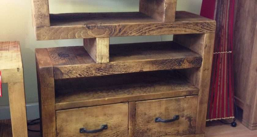 Chunky Funky Solid Wood Unit Stand Cabinet Rustic Plank