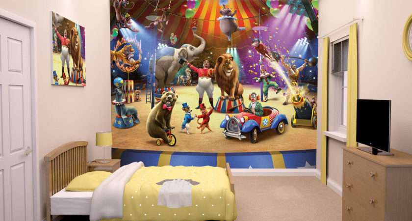 Circus Walltastic Mural Kids Bedrooms Ebay