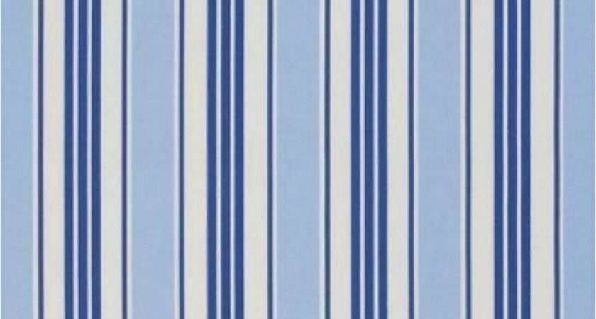 Clarke Deckchair Stripe Curtain Fabric Blue