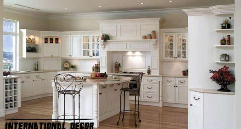Classic Kitchen Cabinets Design Wood White