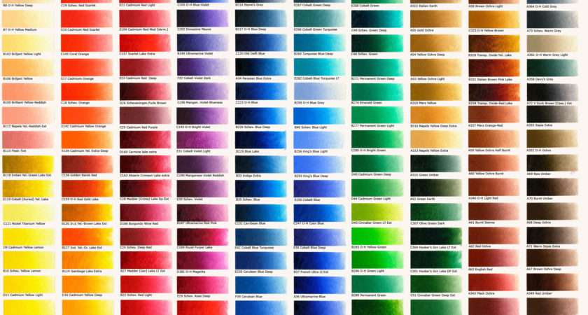 Classic Oil Colours Colour Chart Old Holland