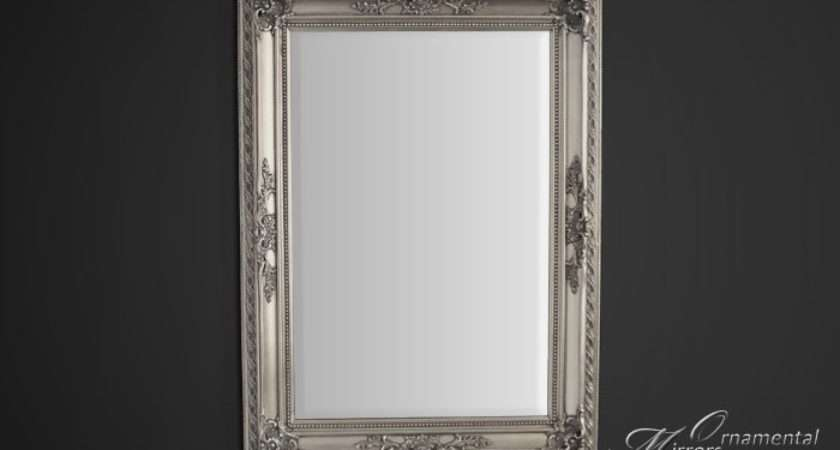 Classic Silver Ornate Framed Mirror Portrait