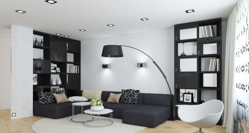 Classic White Living Room Ideas Cool Black
