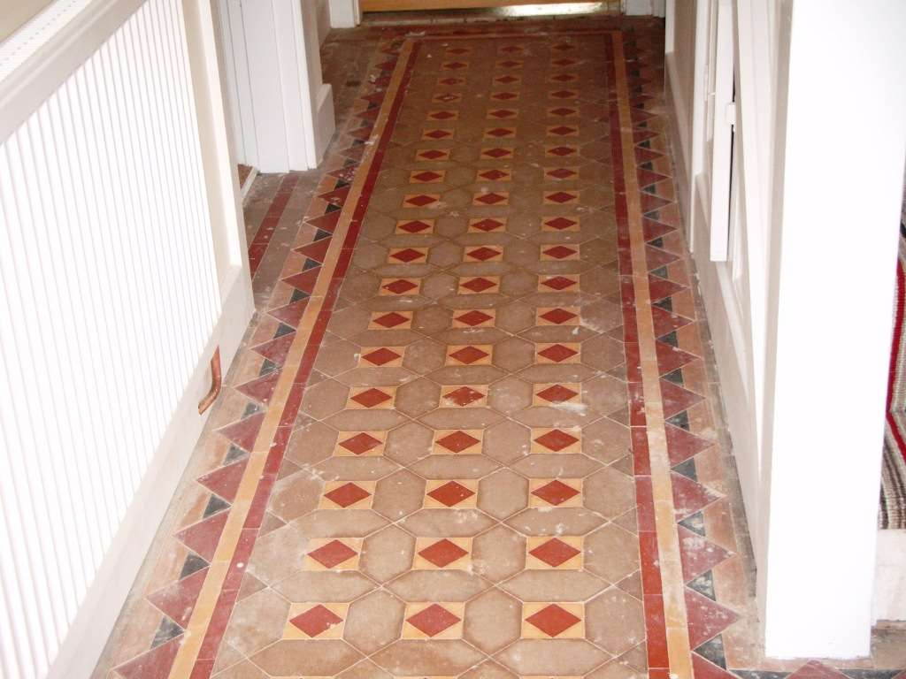 Cleaning Victorian Tiled Hallway Floor