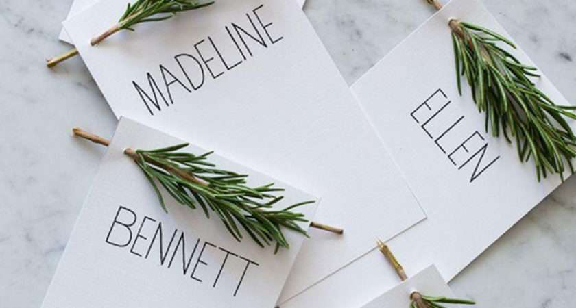 Clever Wedding Reception Place Settings