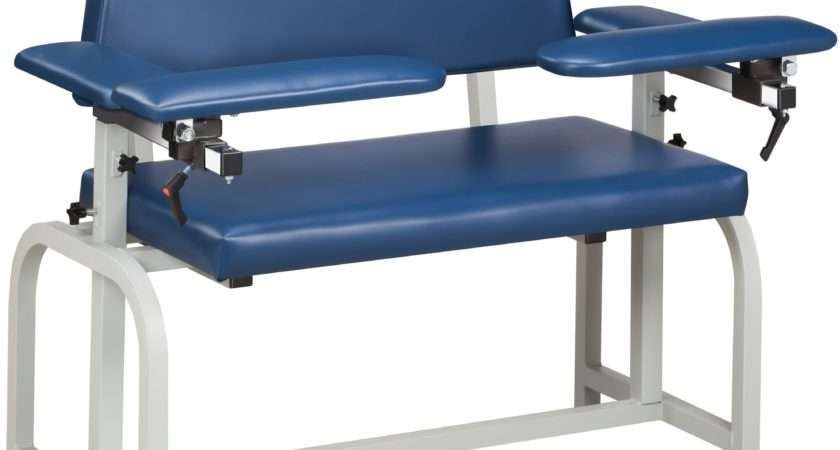 Clinton Lab Series Extra Wide Blood Drawing Chair