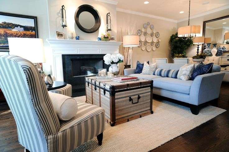 Coastal Living Room Makeovers Spaces Suzann Kletzien