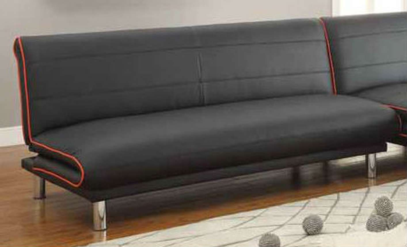 Coaster Black Leather Sofa Bed Steal Furniture Outlet