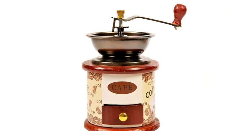 Coffee Grinder Hand Maker Mill Manual Bean Spice Vintage Wooden