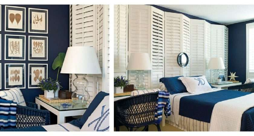 Collage Navy White Bedroom