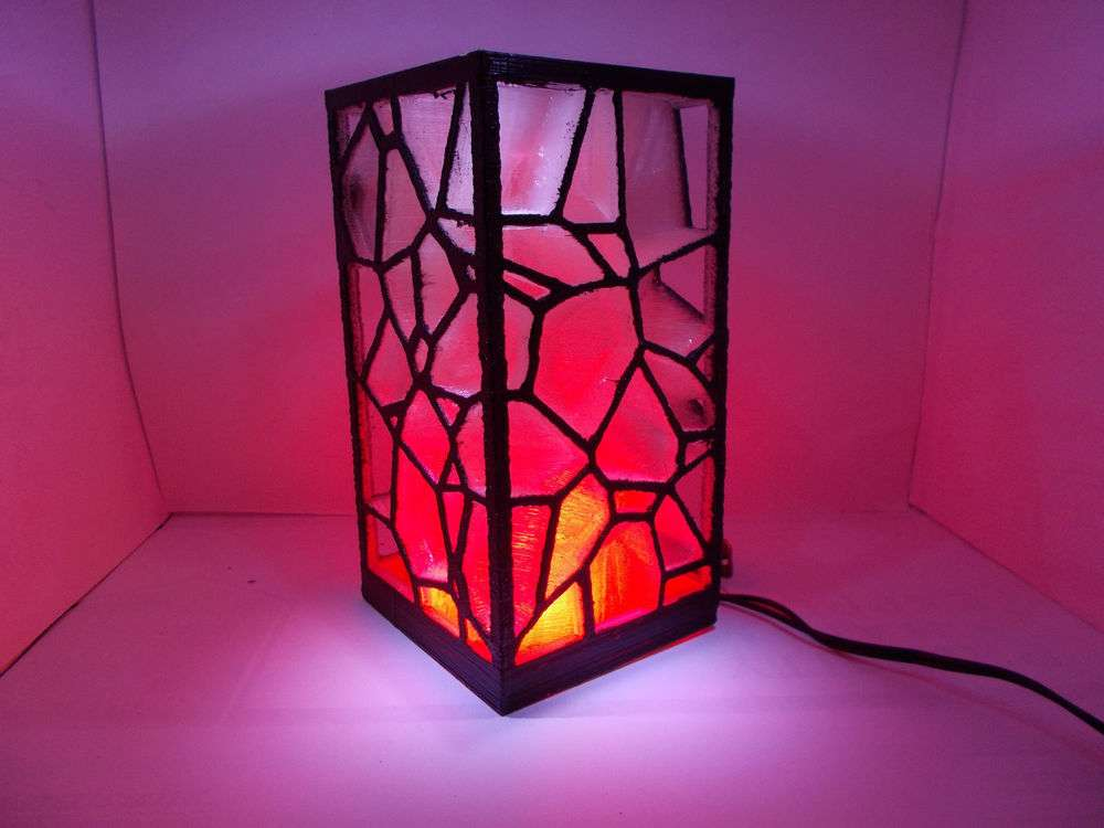 Color Changing Art Deco Mood Light Plastic Handmade Living Room Table