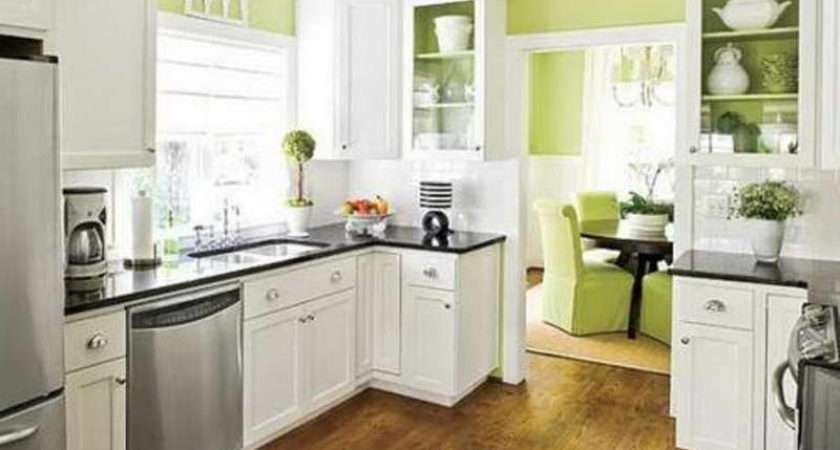Color Kitchen Ideas Green White Cabinets