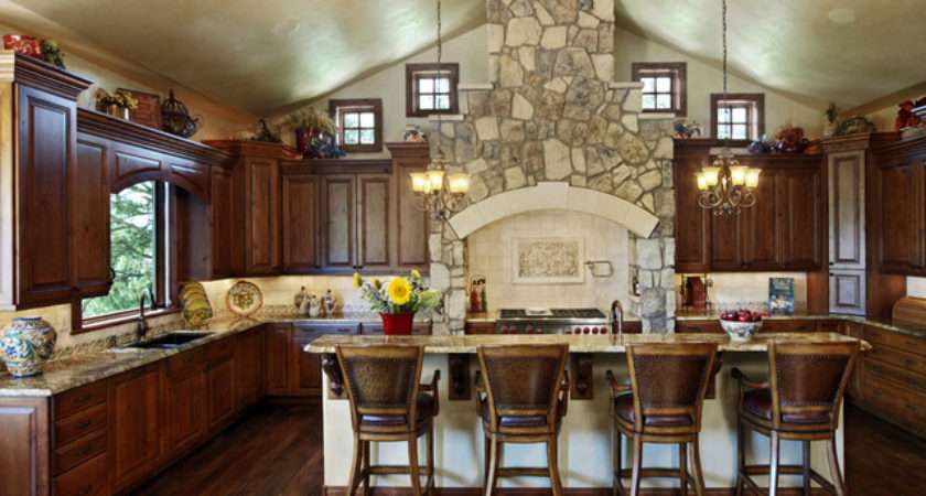 Colorado French Country Rustic Kitchen Denver