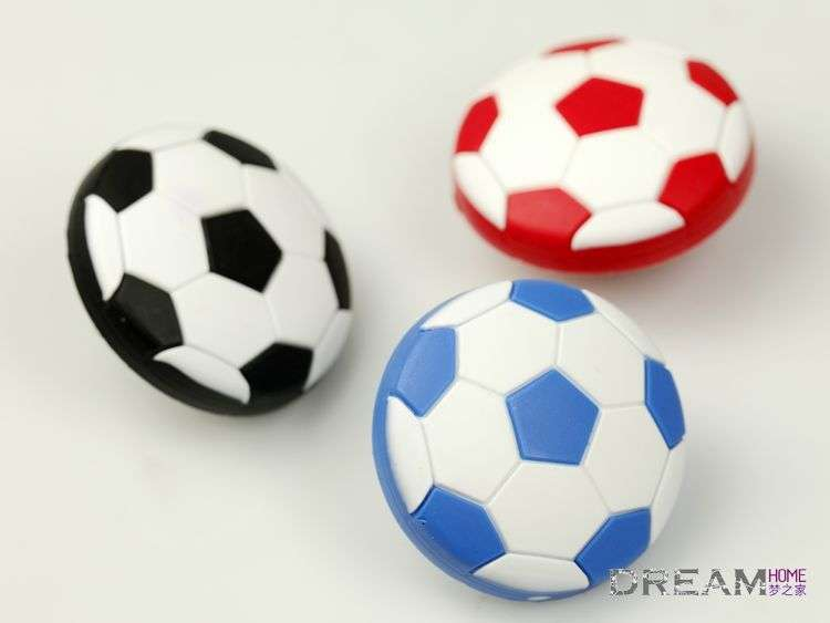 Colors Football Soccer Drawer Pulls Knob Kids Furniture