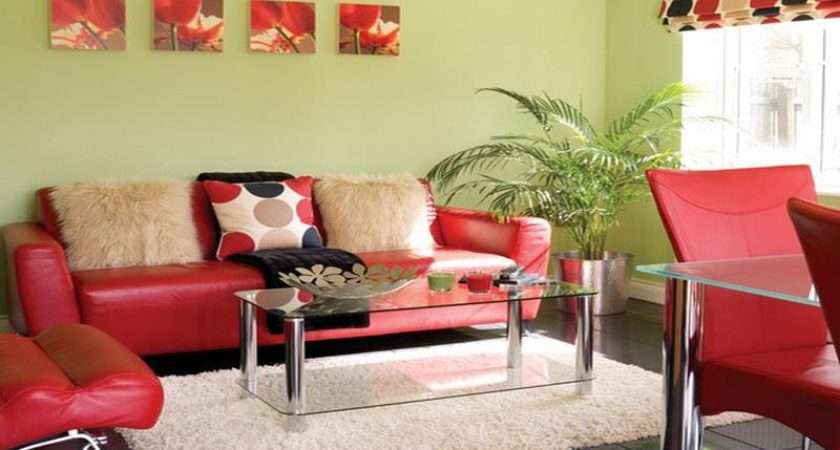 Colourful Yellow Red Living Room Color Schemes Home Interior