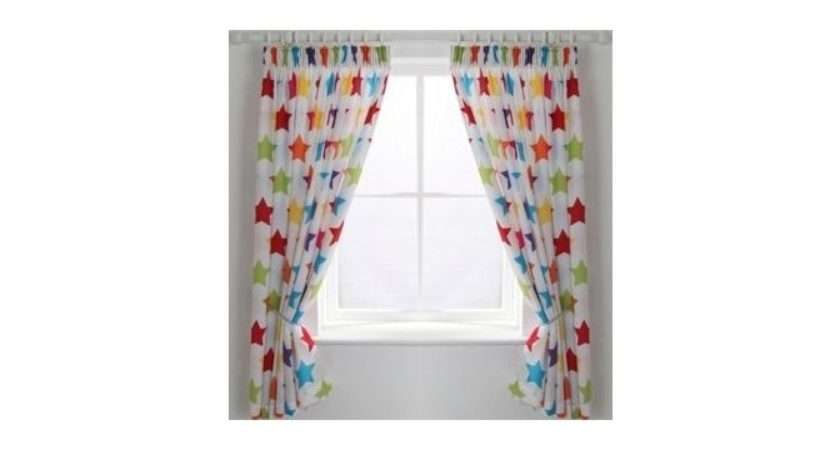 Colourmatch Kids Unlined Star Curtains Argos