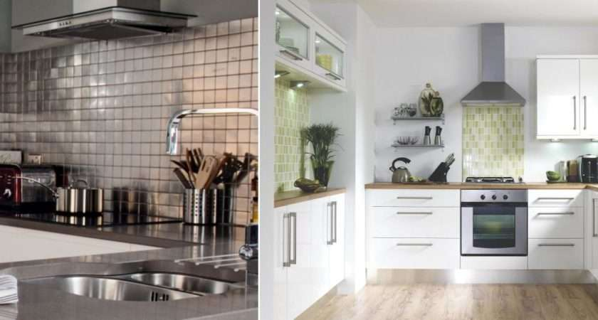 Colours Stainless Steel Mosaic Tile Pictured Left White