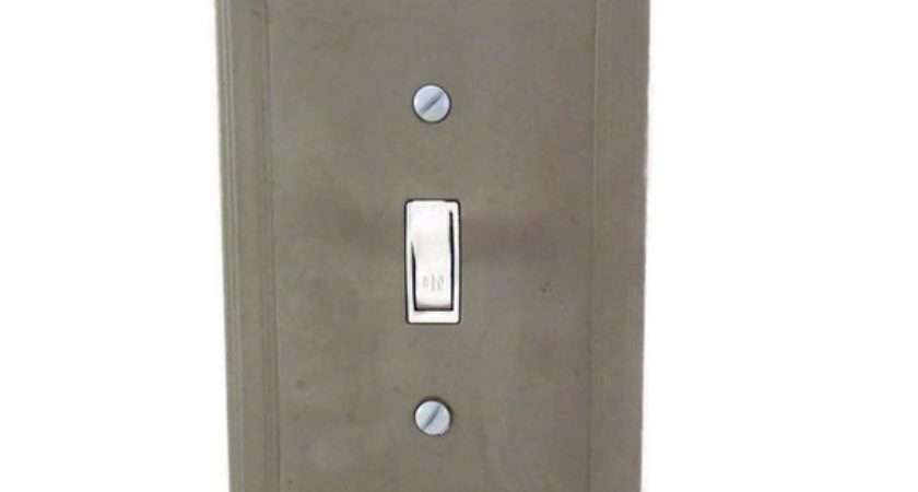 Concrete Switch Plate Cover Cement Light Modern
