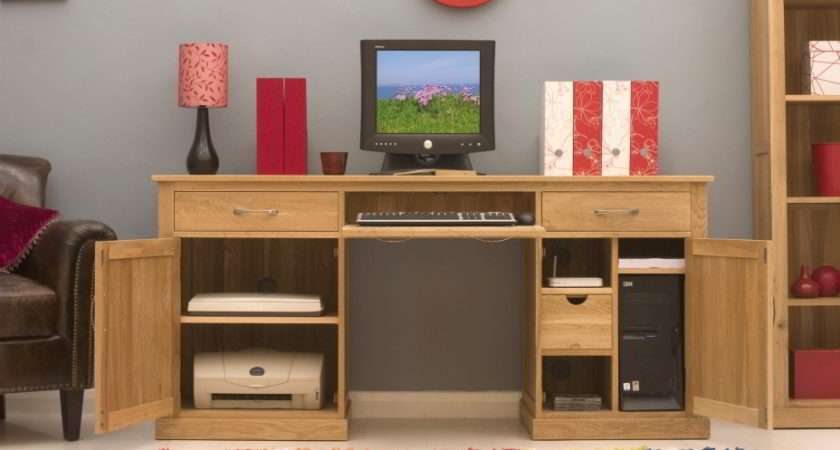 Conran Solid Oak Modern Furniture Large Hidden Home Office