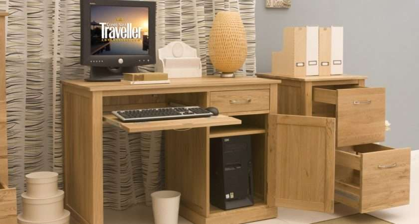 Conran Solid Oak Single Pedestal Computer Desk