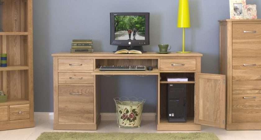 Conran Solid Oak Twin Pedestal Computer Desk