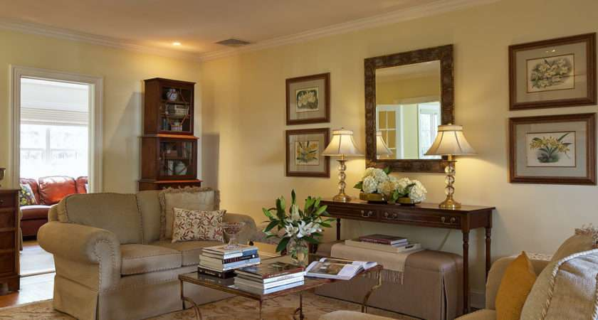 Console Table Decorating Ideas Living Room Eclectic Design