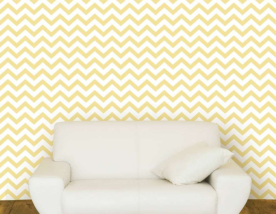 Contemporary Chevron Self Adhesive Wall