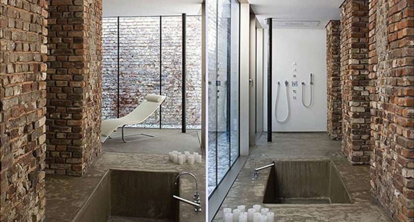 Contemporary Chocolate Bathroom Space One Total Snapshots