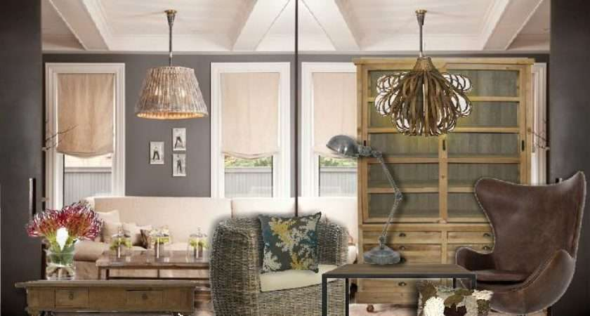 Contemporary Country Living Room Sampleboard