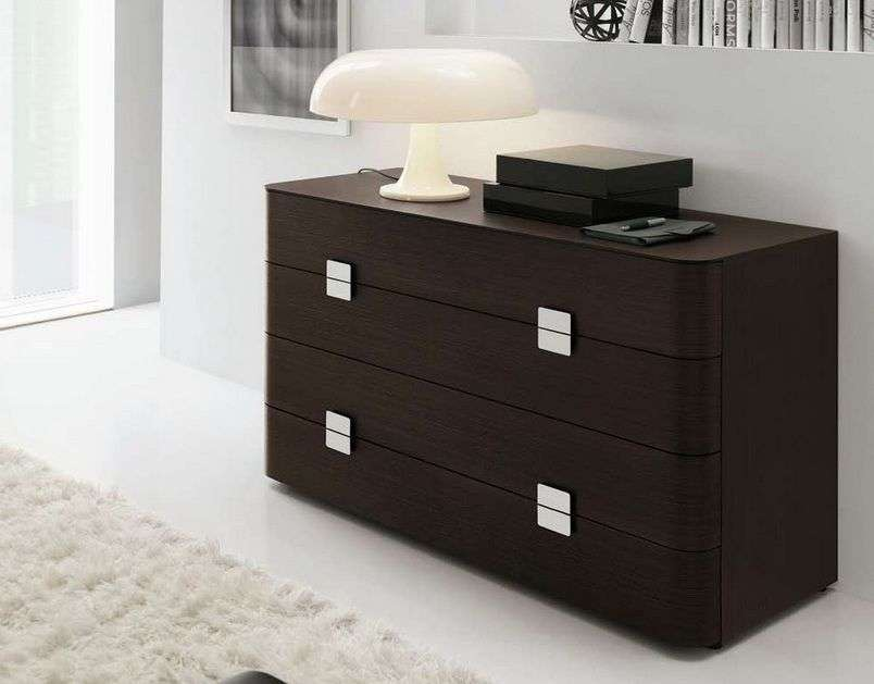 Contemporary Four Drawer Night Stand Prime Classic Design Modern