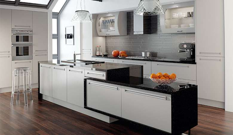 Contemporary Life Kitchen Bella Matt Dove Grey Inset