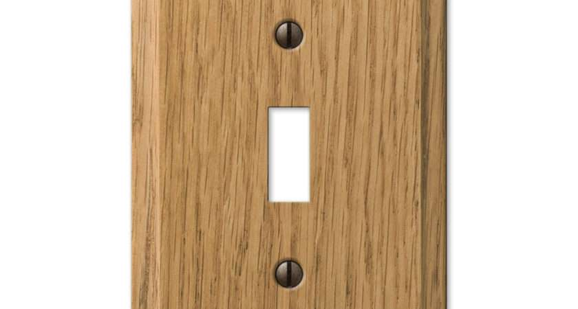 Contemporary Light Oak Switch Plate