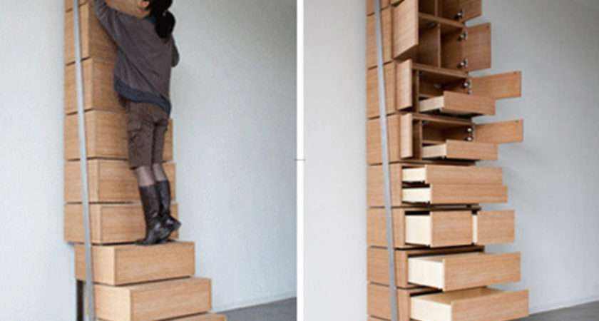 Contemporary Staircase Bookshelves Storage Solution