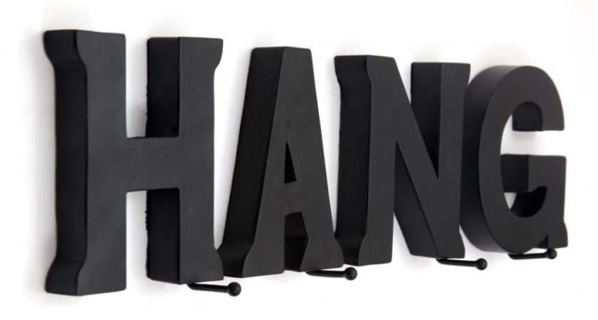 Contemporary Yet Quirky Coat Hanger Does Exactly Says