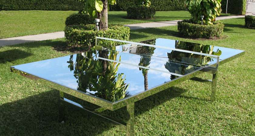 Cool Idea Mirrored Ping Pong Table Popsugar Home