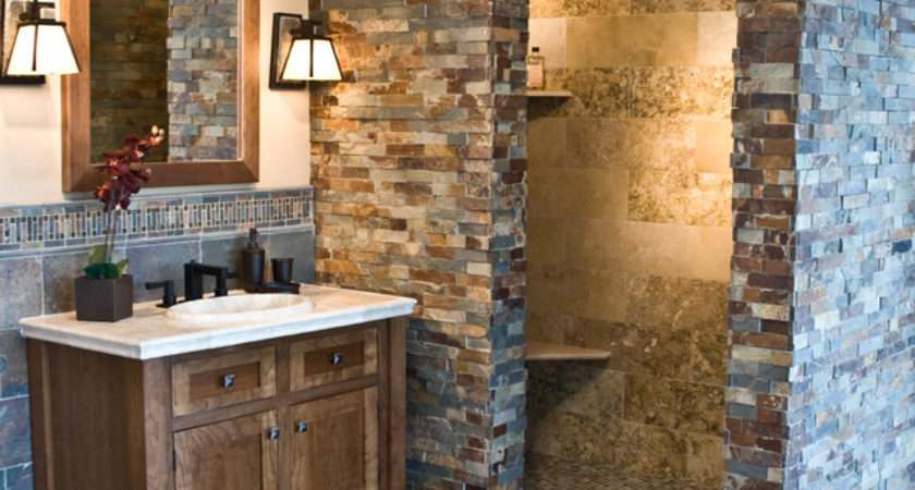 Copper Rust Slate Collection Rustic Bathroom