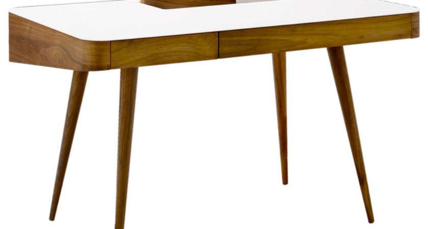 Corian Walnut Desk Modern Desks Writing Bureaus