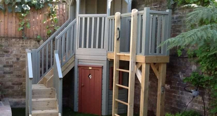 Corner Garden Playstructure Treehouses Playhouse Company