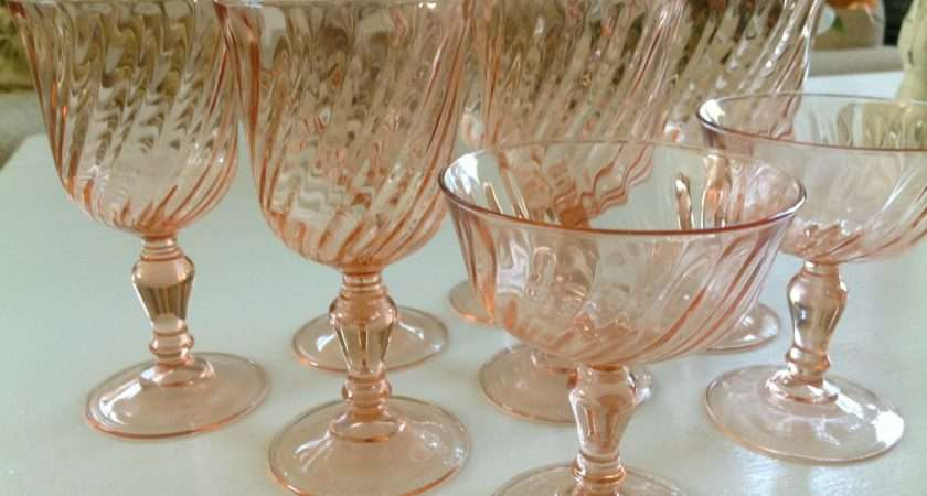 Cottage Blessings Pretty Pink Depression Glass