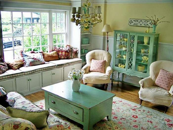 Cottage Living Room Decorating Ideas Country Decor
