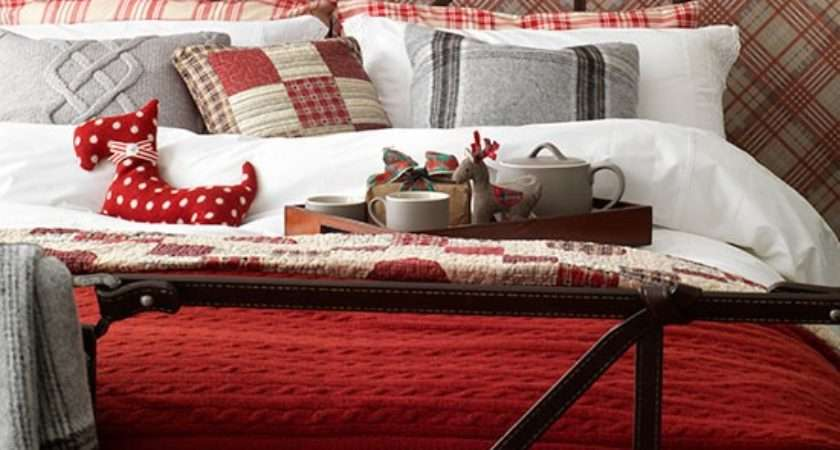 Country Bedroom Red Tartan Decorating