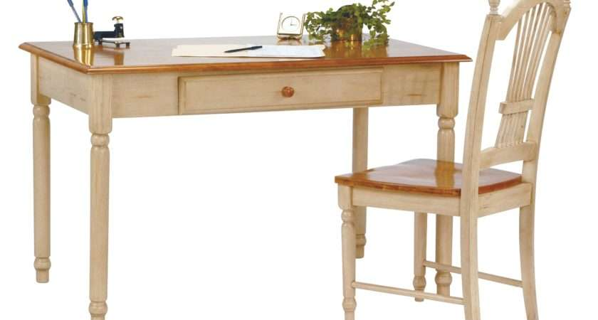 Country Cottage Cherry Antique White Computer Desk Overstock