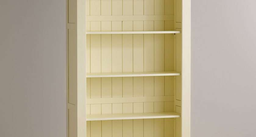 Country Cottage Natural Oak Painted Tall Bookcase