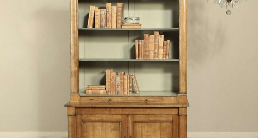 Country French Empire Style Fruitwood Bookcase Stdibs