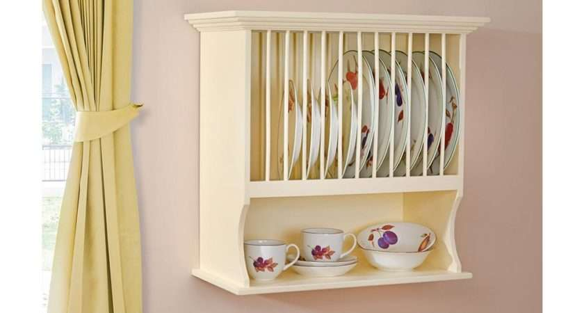 Country Kitchen Wall Plate Rack Furniture