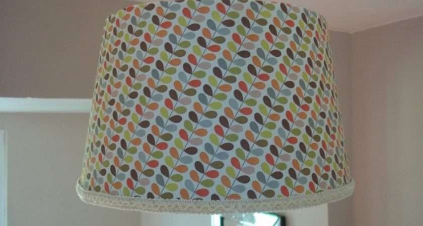 Cover Old Lampshade Orla Kiely Wrapping Paper Edge