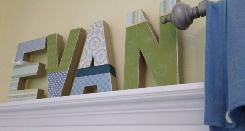 Craft Decorate Your Name Block Letters
