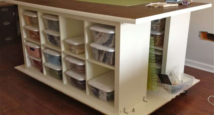 Craft Table Storage None Quilters