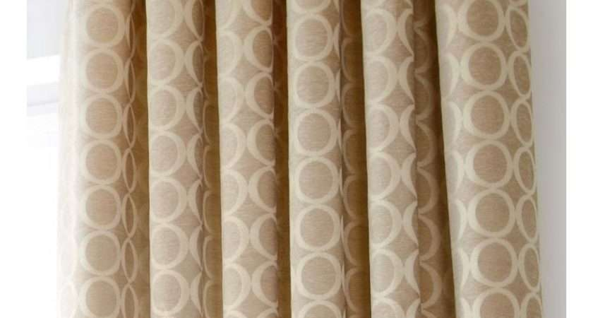Cream Chenille Eyelet Curtains